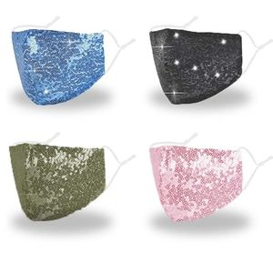 Sequin Bling Glitter Adjustable Face Mask …